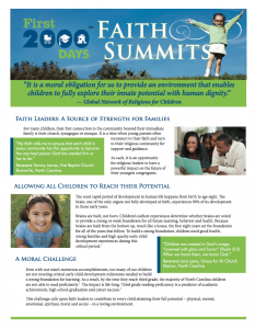 Faith Summit Report Cover